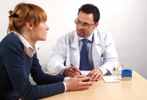 A consultation between doctor and patient about ethics