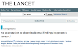 Lancet publishes Genomethics research